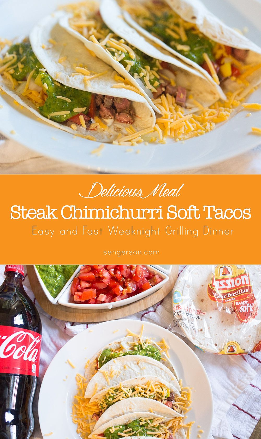How to Make Easy Chimichurri Sauce for Steak receta recipe | Easy Chimichurri Steak Tacos featured by top US food blogger, Sengerson