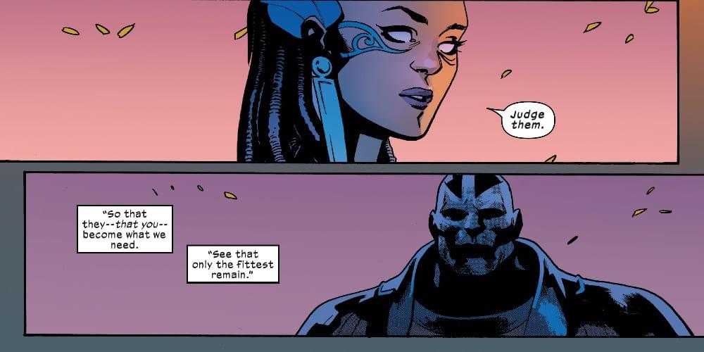 Apocalypse, Gorgon, Hope Summers, Cerebro Blade, Magneto, Marvel Comics, Krakoa, Dawn of X, Jonathan Hickman, Mutants, Arakko