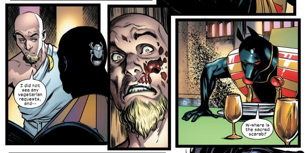 Marauders #15: X of Swords Chapter Fourteen, Wolverine, X-Men, Storm, Cable, Magik, Pogg-Ur-Pogg, Isca the Unbeaten, Apocalypse, Saturnyne, Dawn of X, Otherworld, White Sword, X-Force, Gerry Duggan, Benjamin Percy