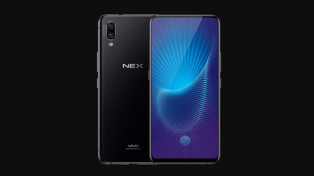 Mobilní telefon Vivo Nex s poměrem displeje k přední straně 91%