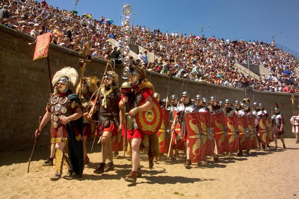 Römer im Amphitheater Xanten
