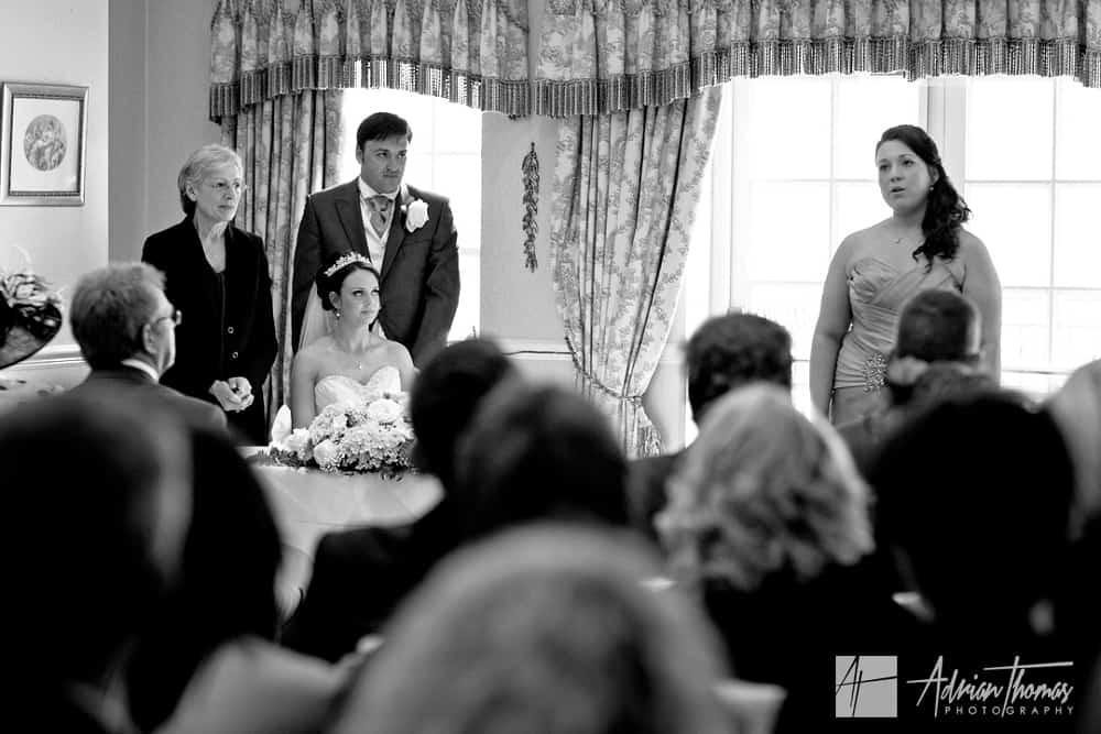 Bridesmaid singing
