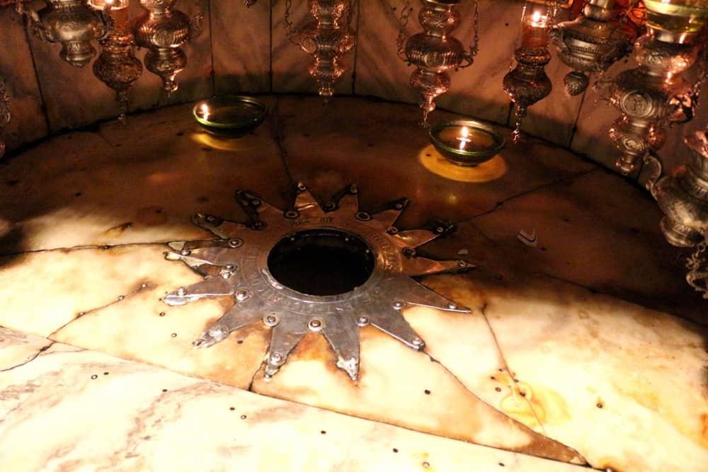 Church of the Nativity silver star jesus birth bethlehem