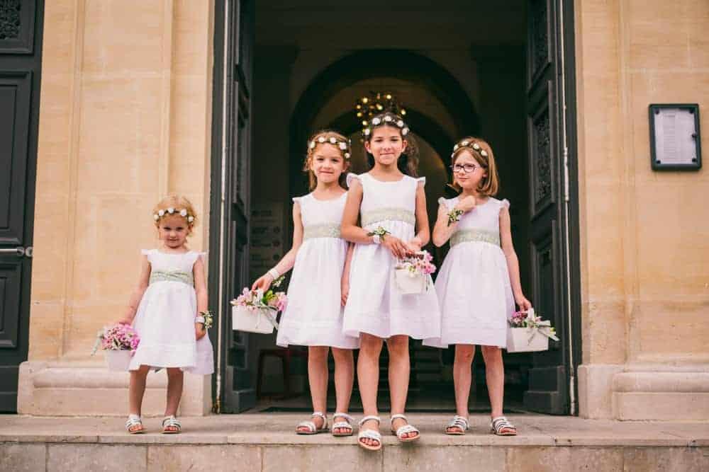 Photos enfants d'honneur mariage civil à la mairie de Coulommiers
