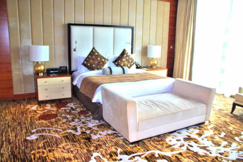 Bed at Marina Bay Sands hotel