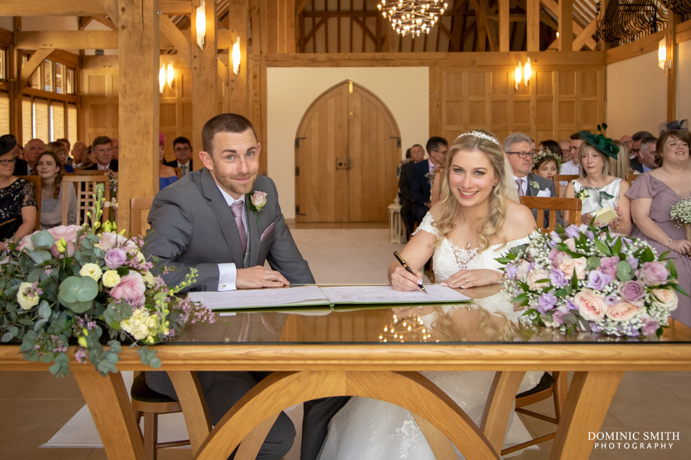 Signing the Register at Rivervale Barn