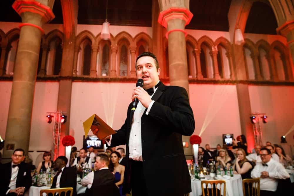 speaker at awards dinner