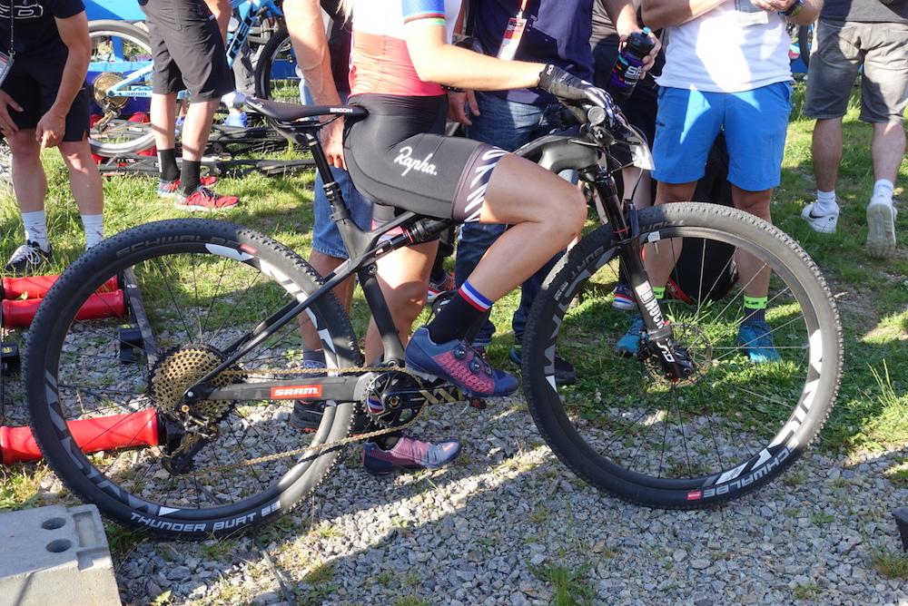 Pauline Ferrand-Prévot bike check – Canyon Lux 2.0?
