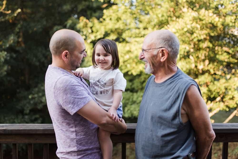 Grandpa Seghetti Dad and Daughter