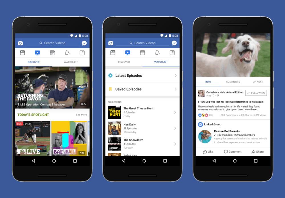 Představujeme službu Watch. Platformu pro sledování na Facebooku