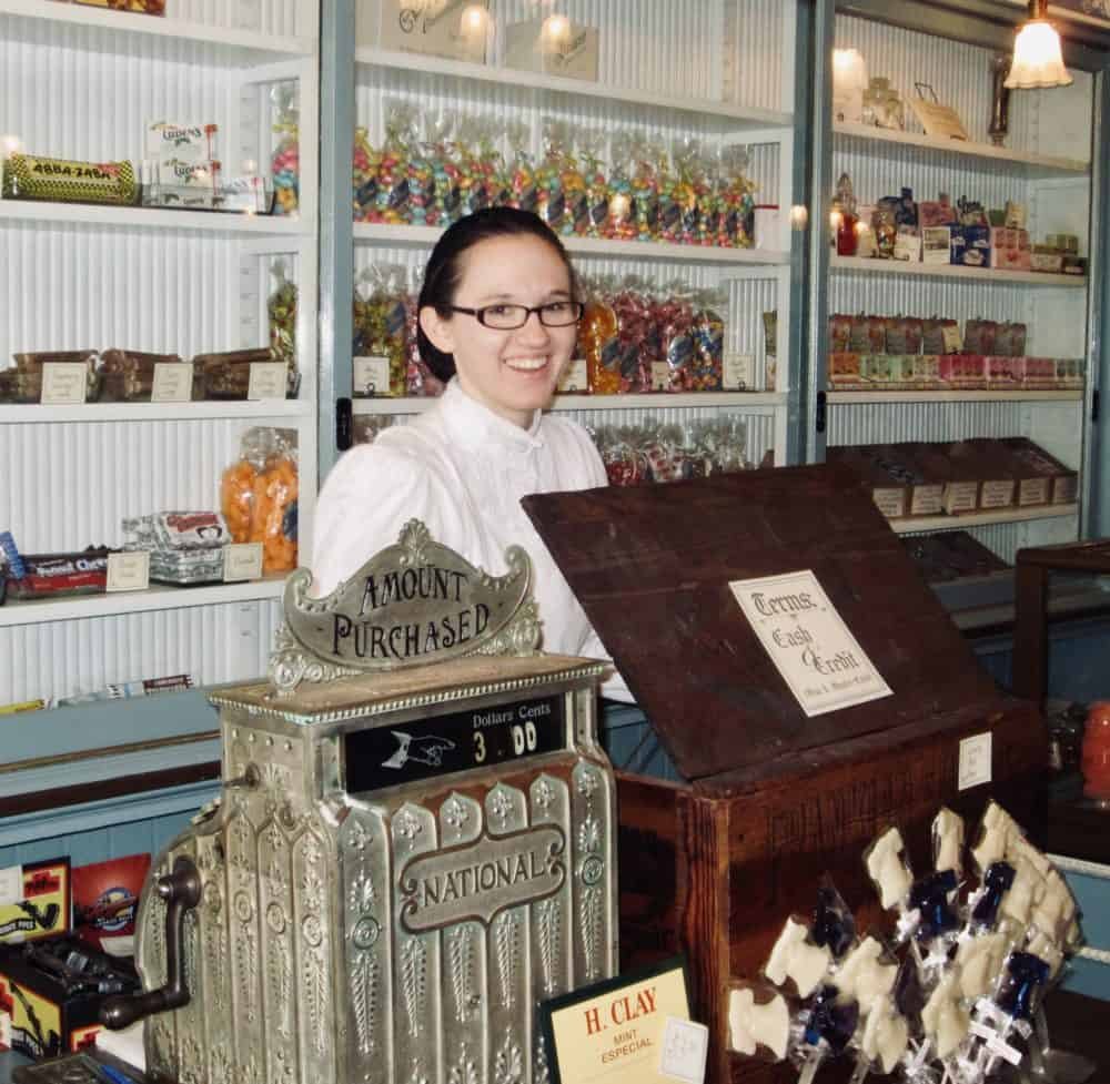 Shane's is an old fashioned candy store in Philadelphia with a variety of confections and a vintage cash register.