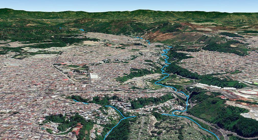 Cuenca del río Las Vacas en Ciudad de Guatemala
