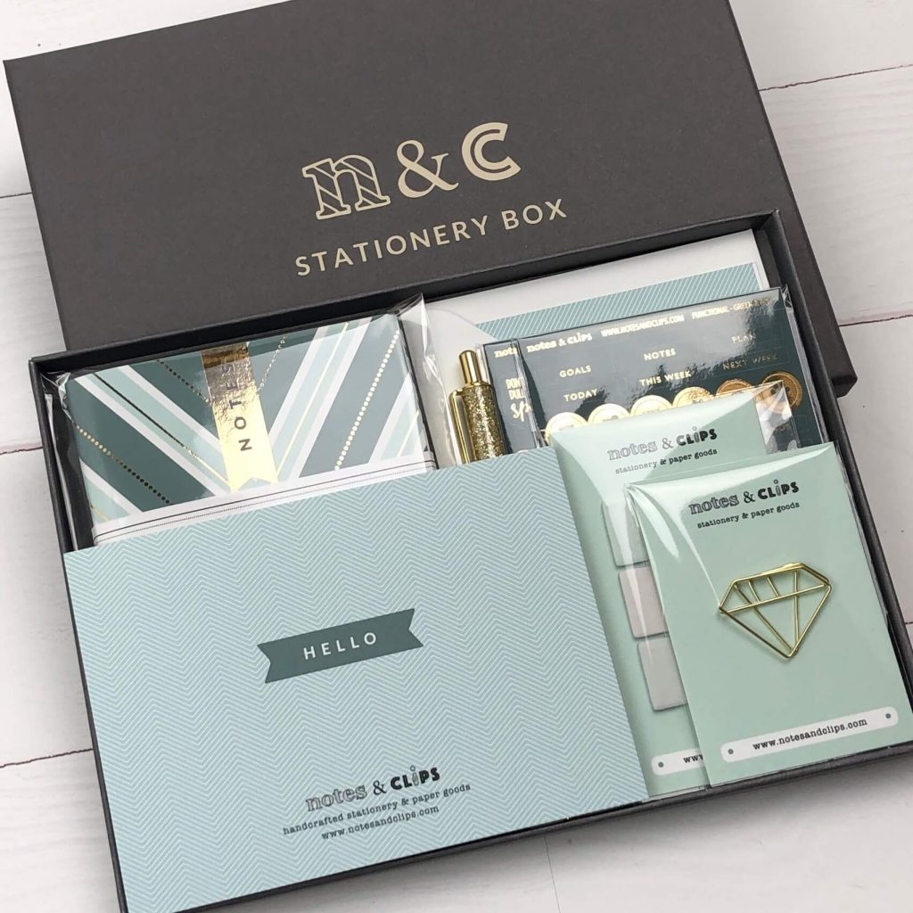 Notes and Clips Stationery Box