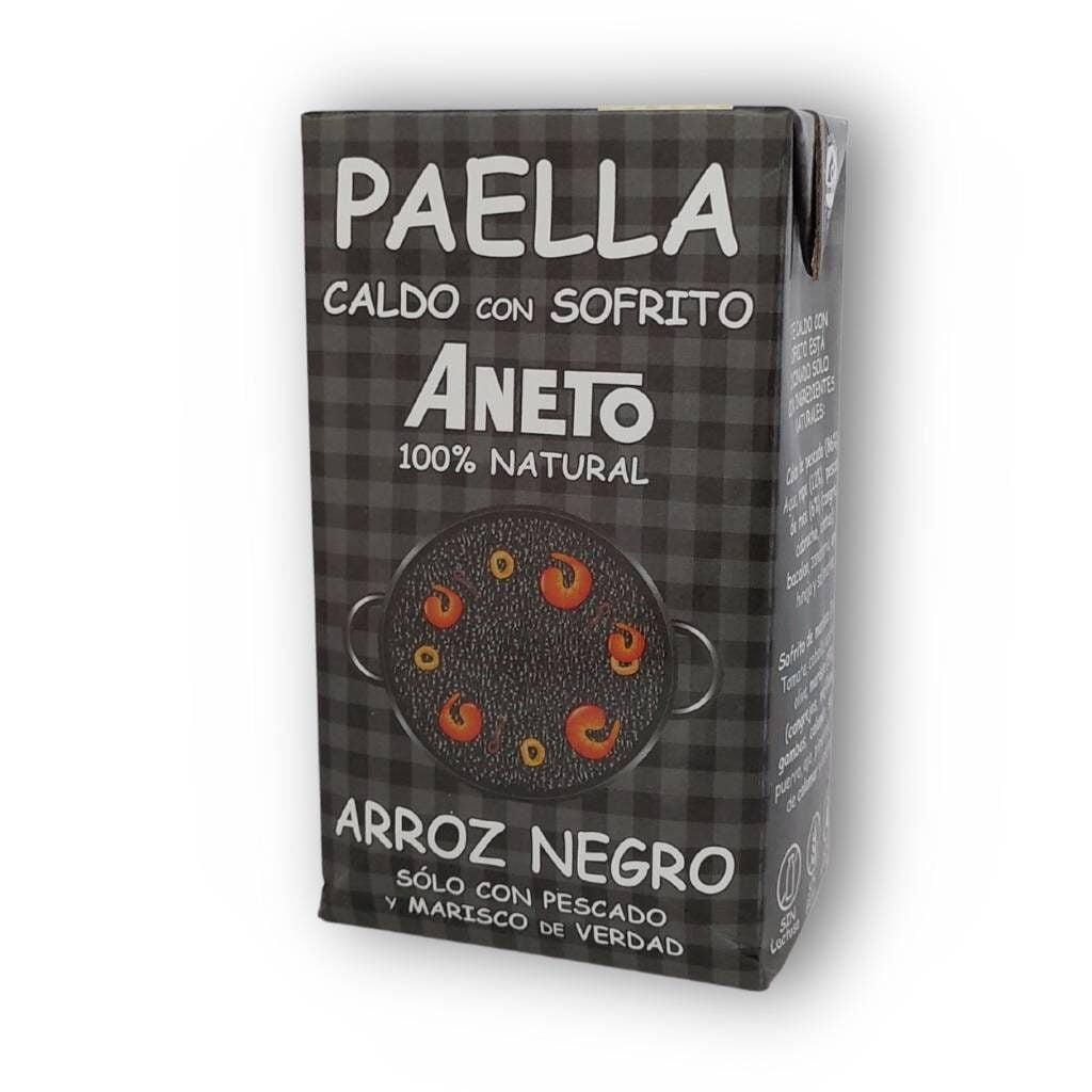 Zwarte bouillon paella bouillon