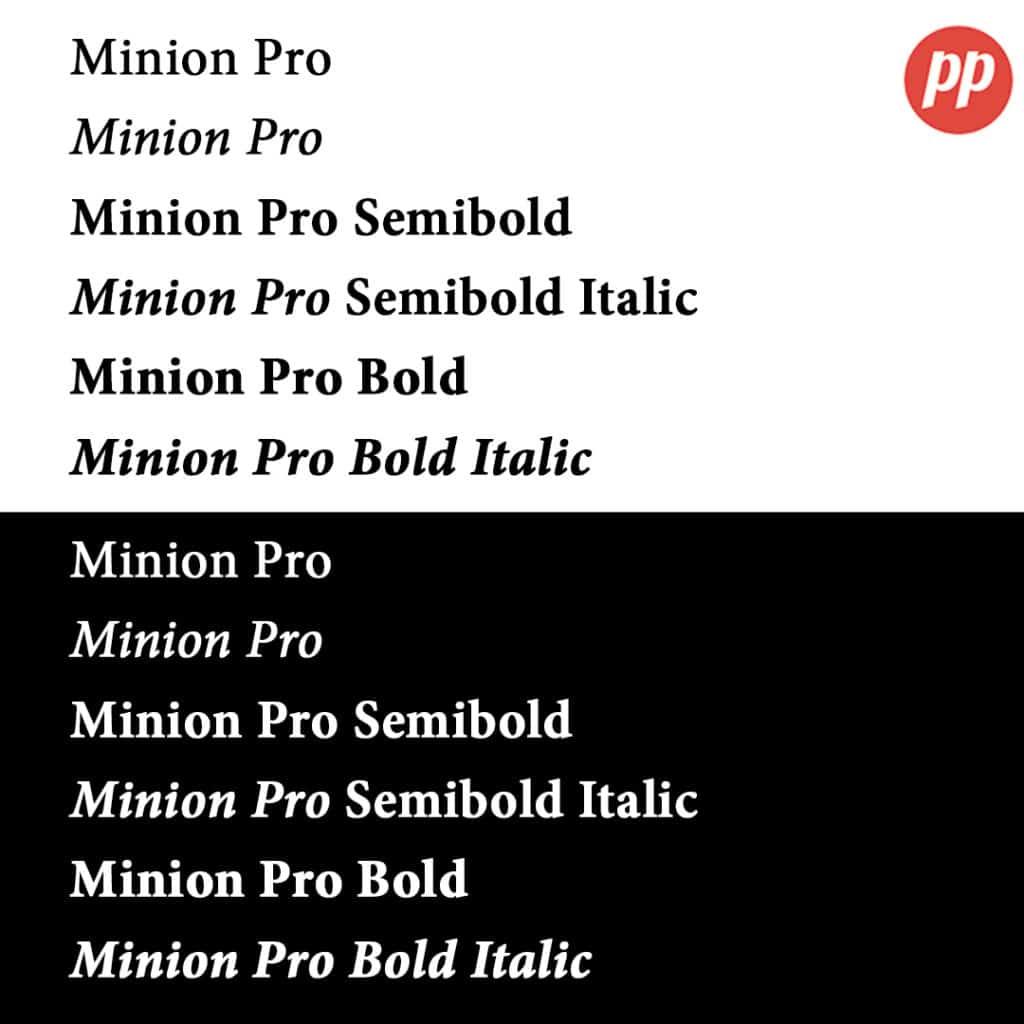 Proof Positive - Minion Pro Font