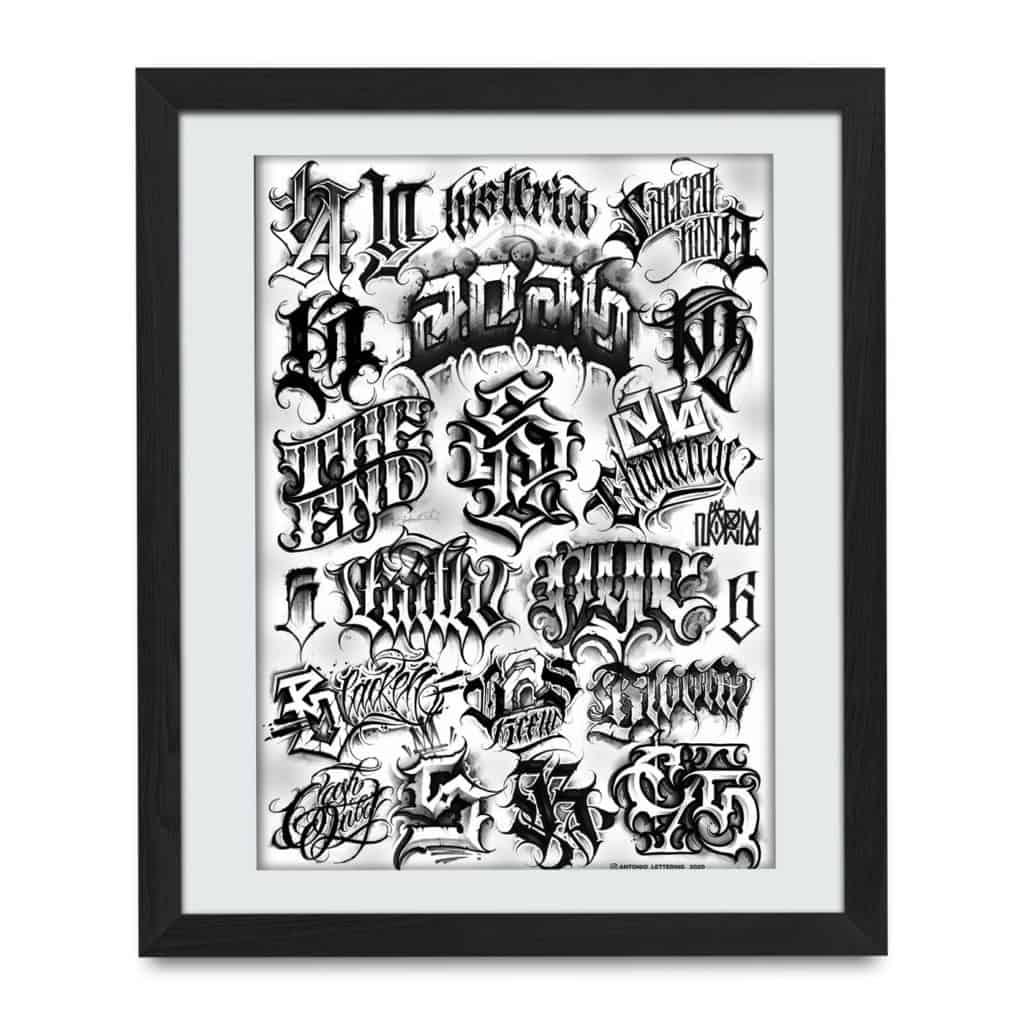 lettering print
