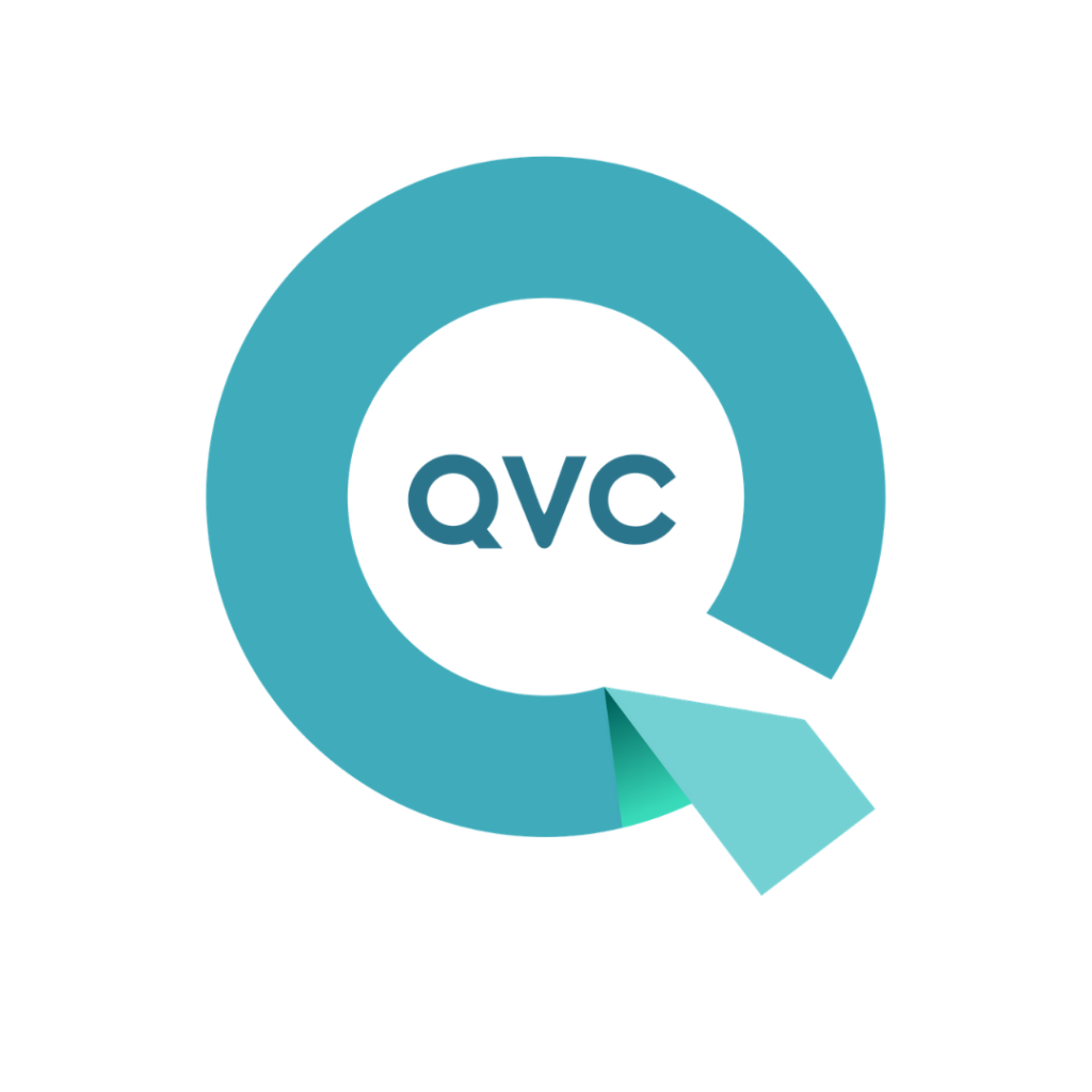 QVC Logo link to an article featuring Dr. Pia Lieb on QVC