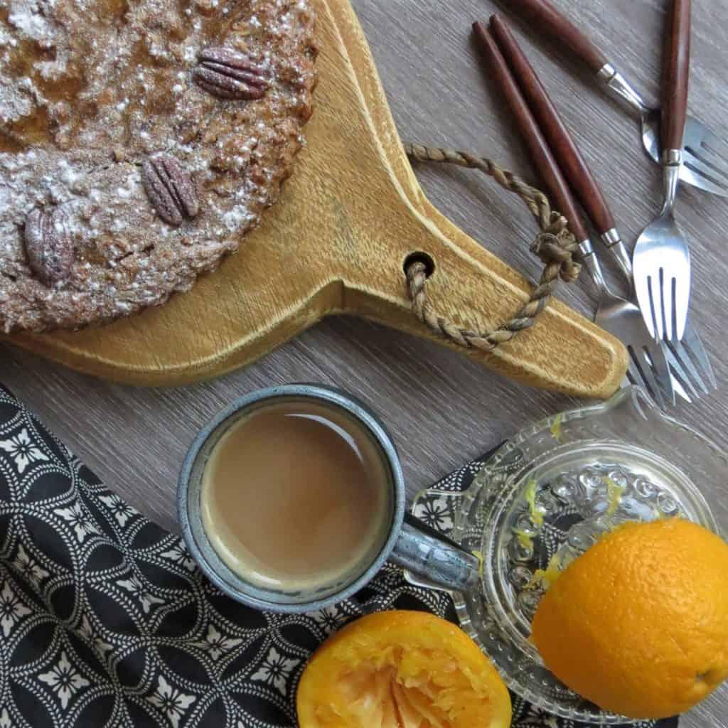 Roast Orange and Pecan Cake