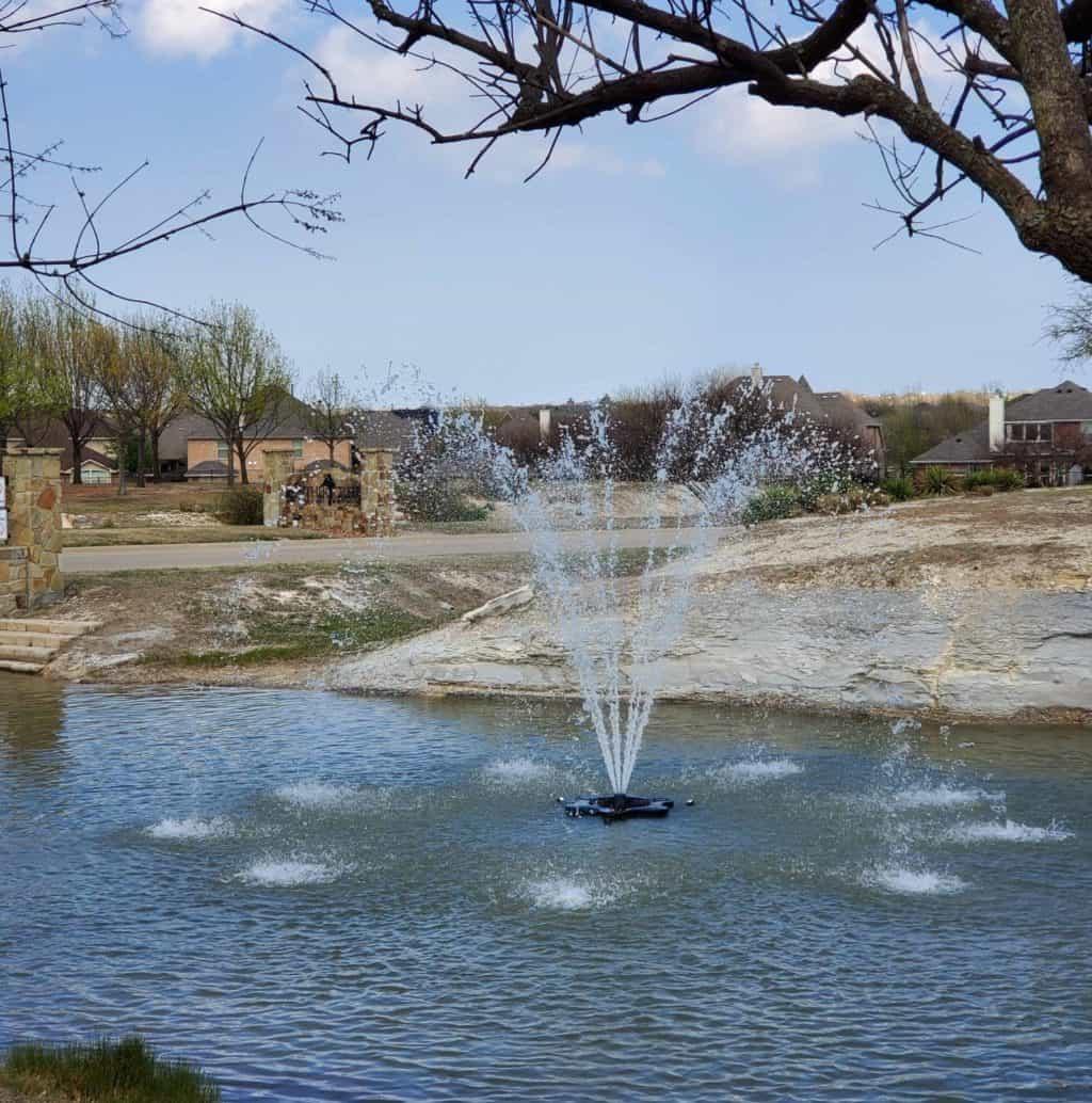 Panther Creek Estates fountain