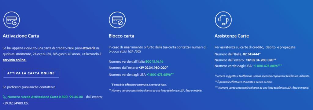 screen nexi servizio clienti privati servizio clienti
