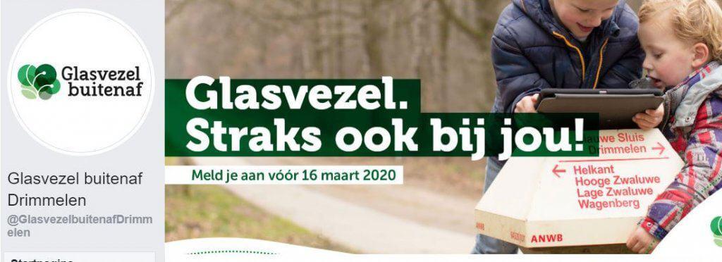 Glasvezel buitenaf gemeente Drimmelen facebook