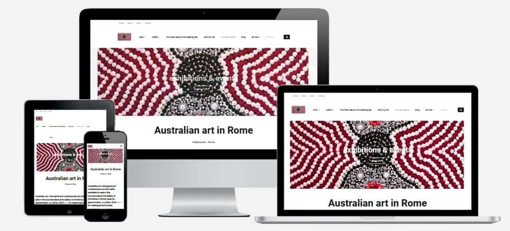Website For Aboriginal Art in Rome Italy