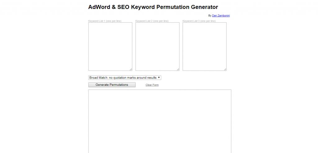 SEO Keyword Permutation Builder keyword suggestion tools