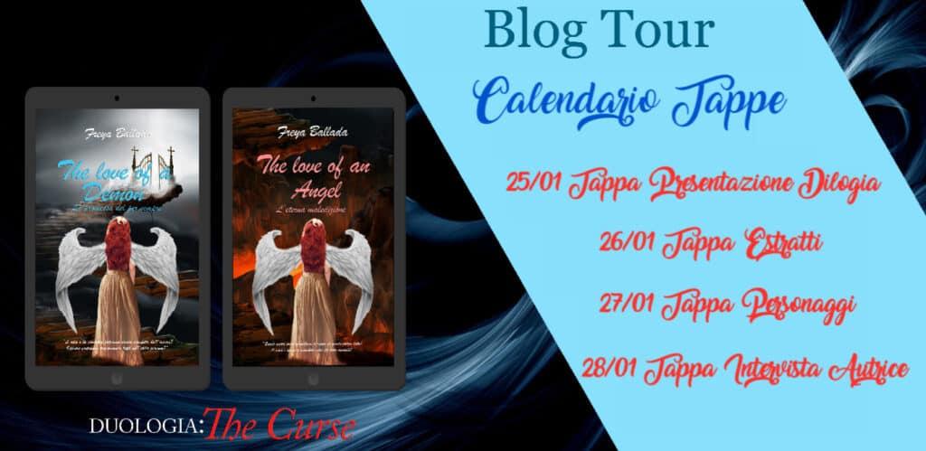 Blog tour Dilogia The curse di Freya Ballada calendario tappe