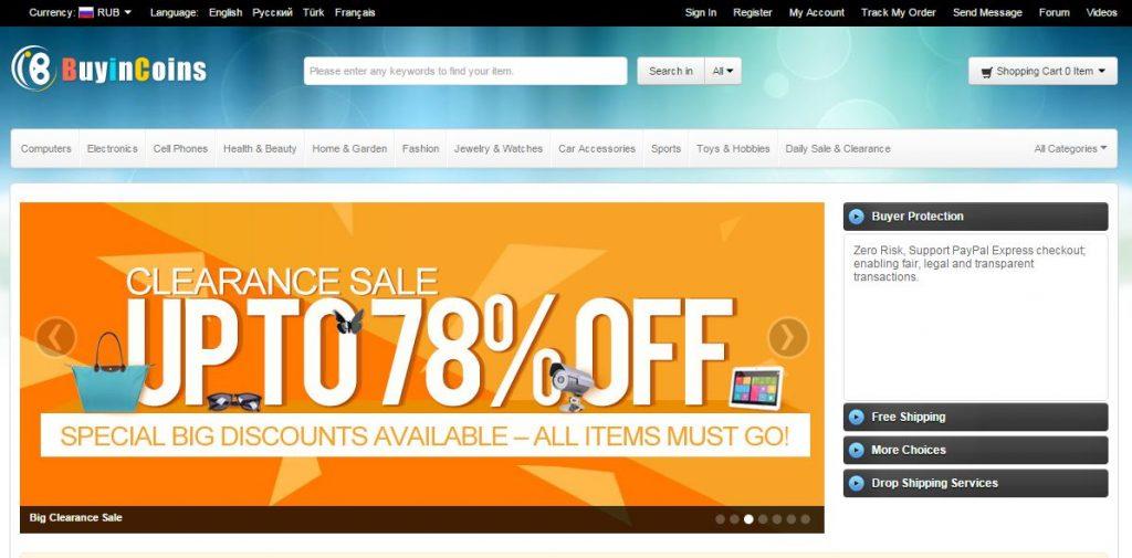 BuyInCoins онлайн-магазины Со всего света: крупные онлайн магазины BuyInCoins 1024x505