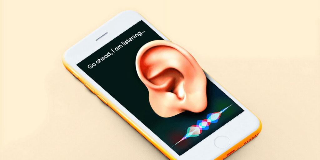 Activating Siri, iPhone