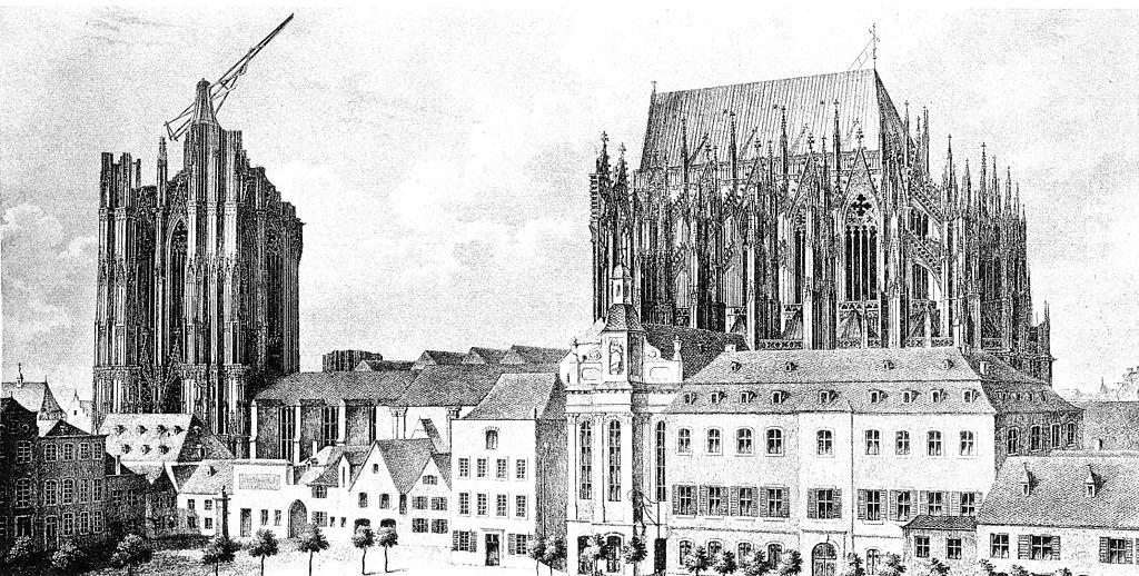 Kölner Dom unfertig ca. 1824