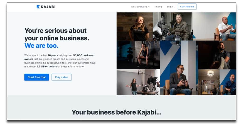 kajabi online learning management review
