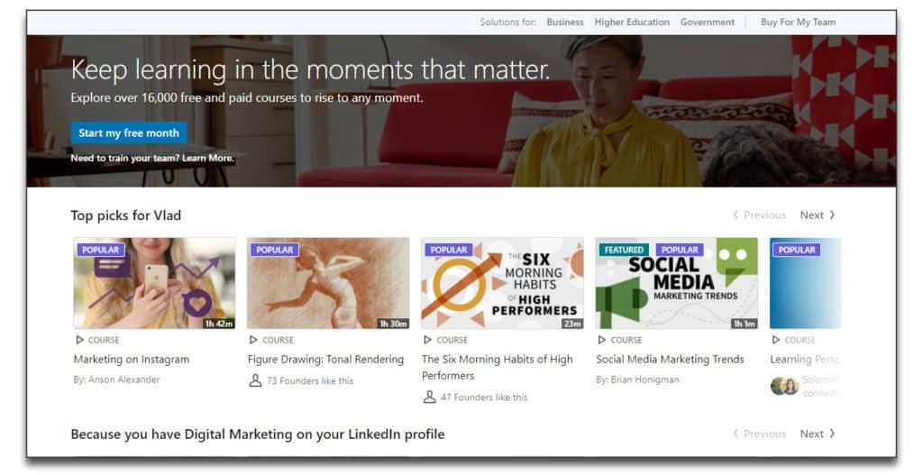 linkedin learning online learning platform review