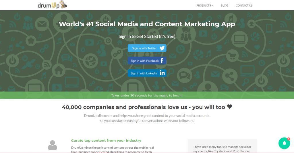 DrumUp-Social-Media-Marketing-Tool