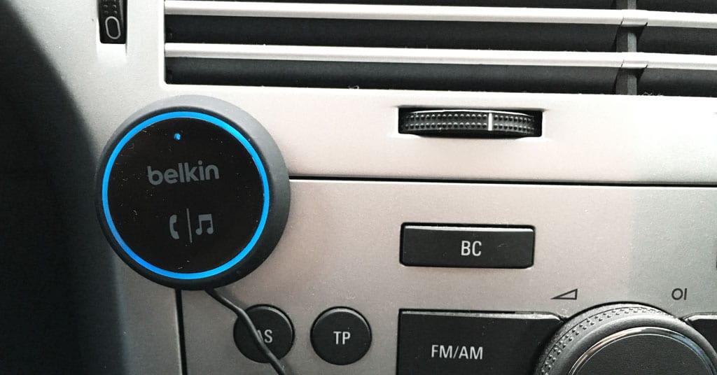 AUX und Siri am Belkin Car Audio Connect Bluetooth Empfänger