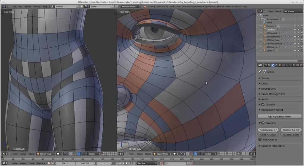 Blender обзор полигональное моделирование