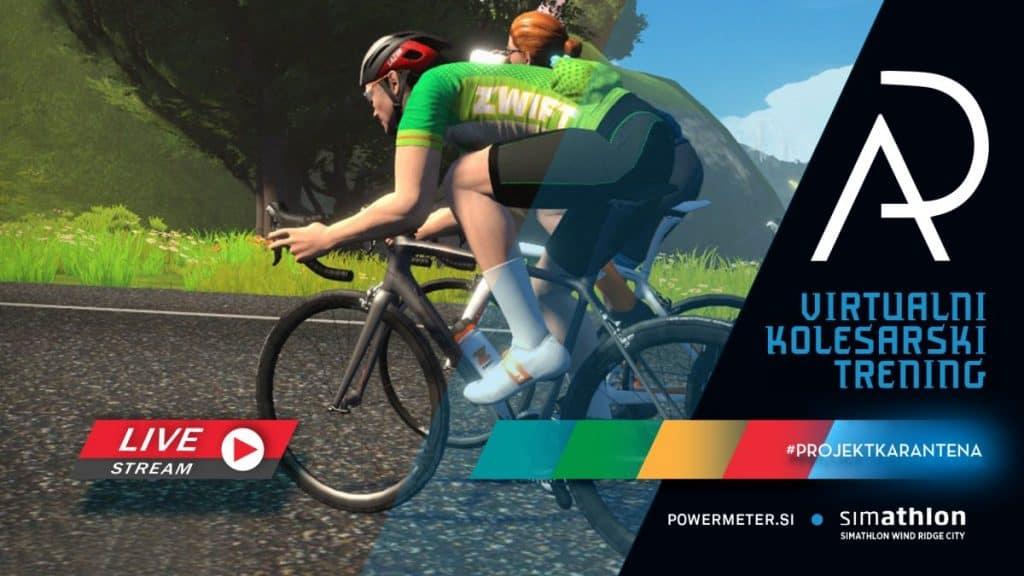 zwift virtualno kolesarjenje trening aleksej dolinšek trener