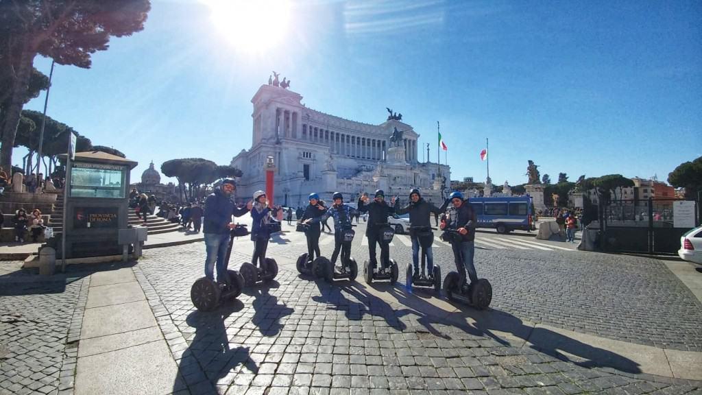 Piazza Venezia during segway tour in Rome