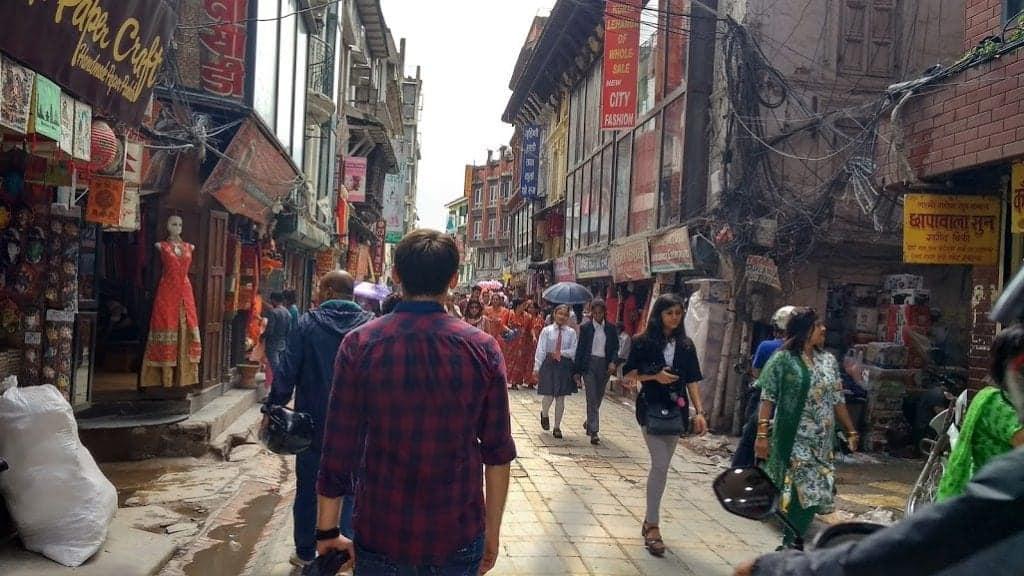 walk in Kathmandu