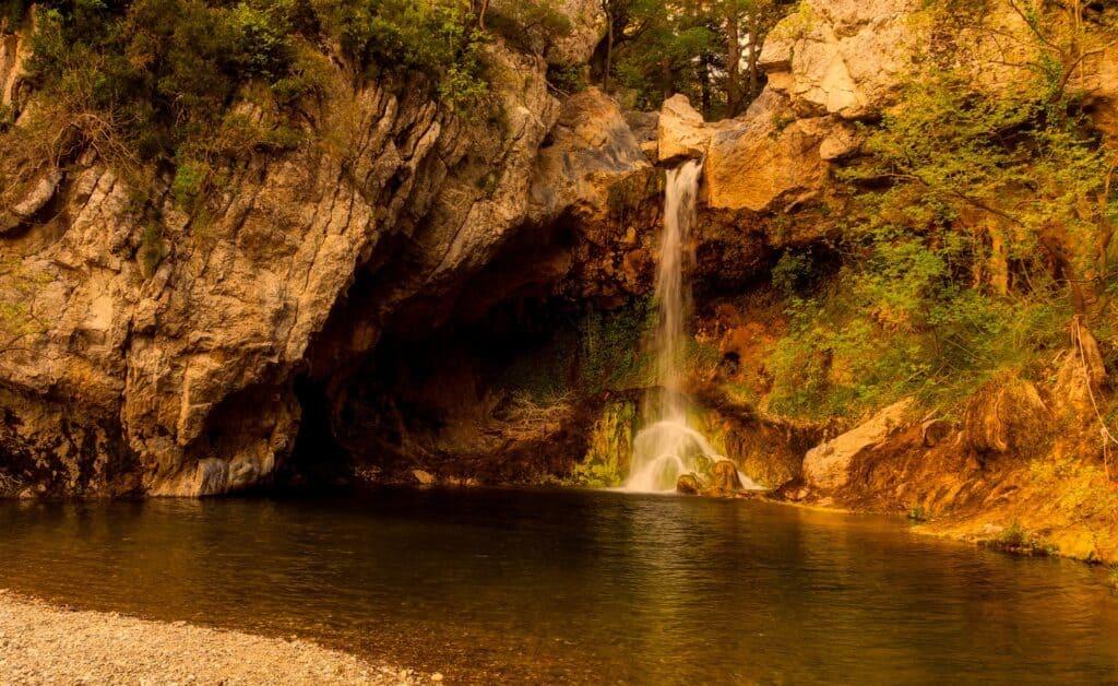 nymfes waterfall