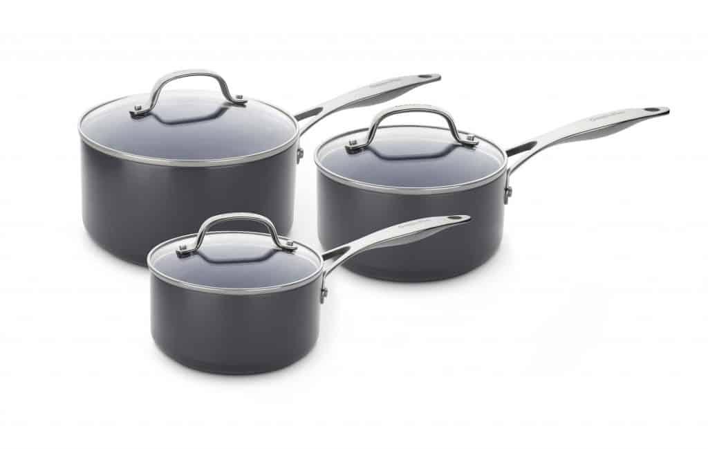 Venice Pro Ceramic Non-Stick 3pc Saucepan Set with Lids
