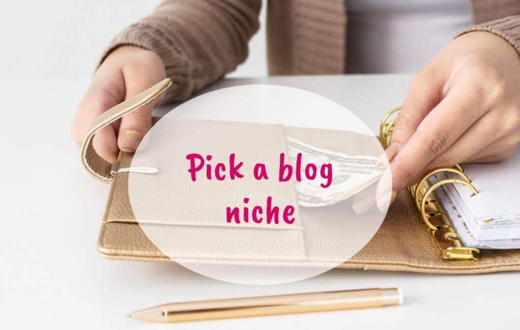 pick a blog niche, find a niche, niche blog - blog 1