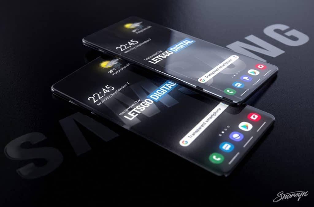 smartphones transparentes