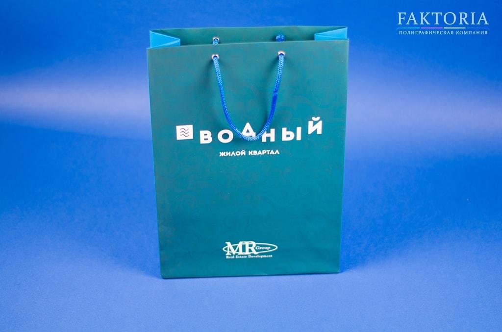 Бумажный пакет с веревочными ручками