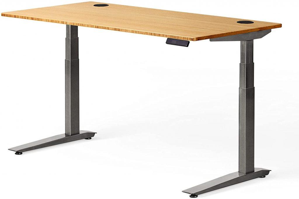 jarvis bamboo standing desk grey