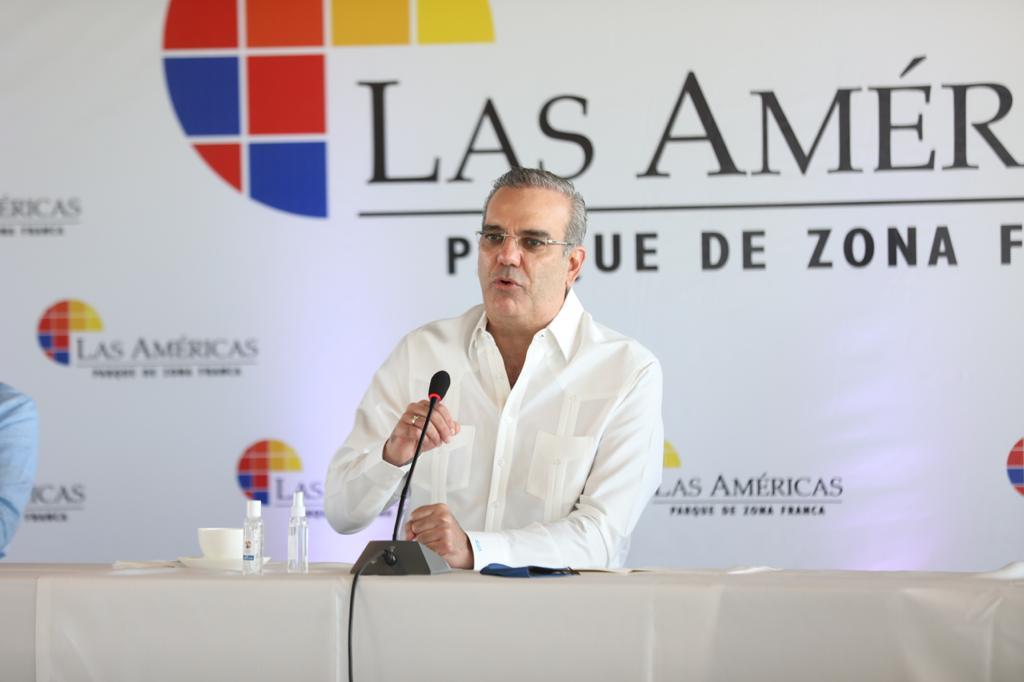 Luis Abinader, presidente de la República, en zonas francas