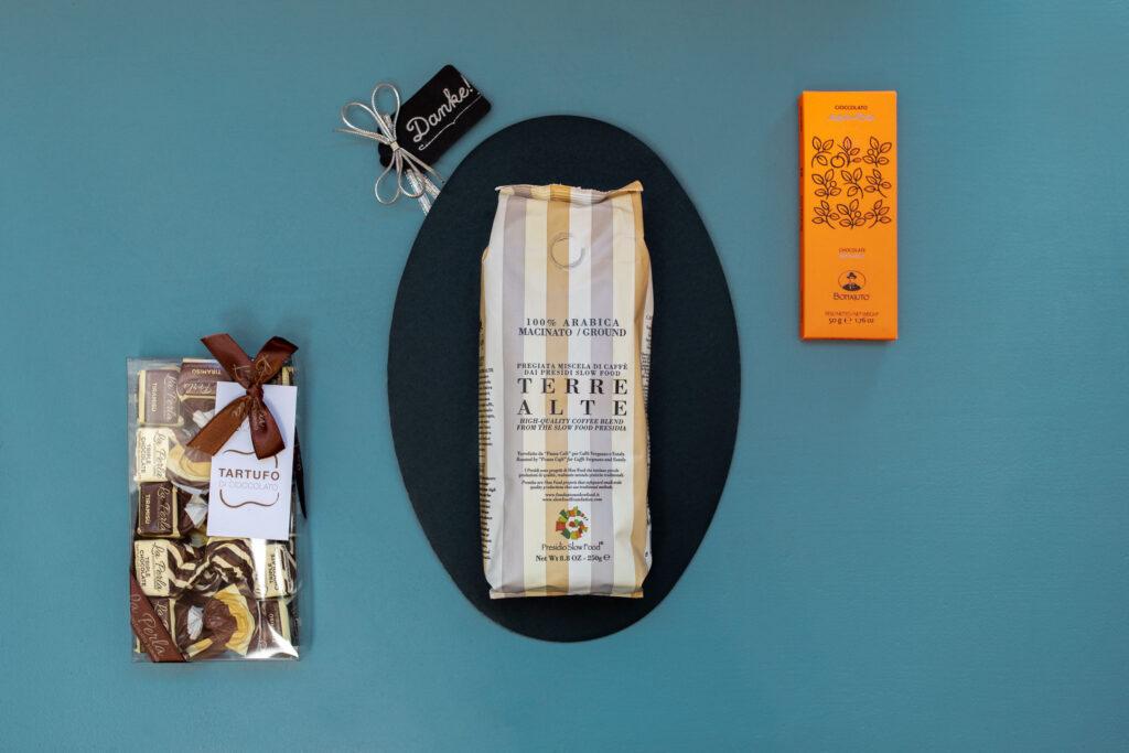 Geschenkbox Kaffee und Schokolade