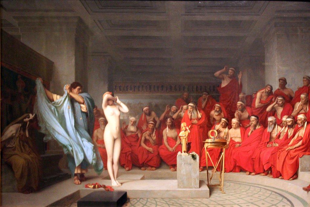 Gérôme Phryne vor dem Areopag - Anagoria