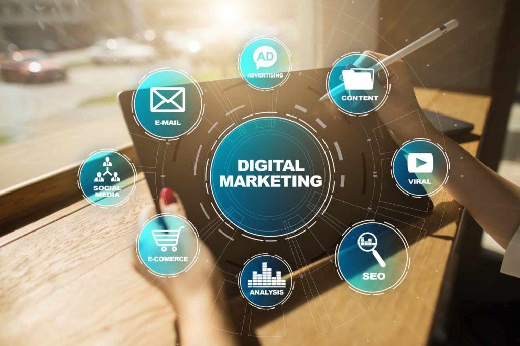 Digital marketing tips concept. Internet. Online. Search Engine Optimisation. SEO. SMM. Video Advertising.