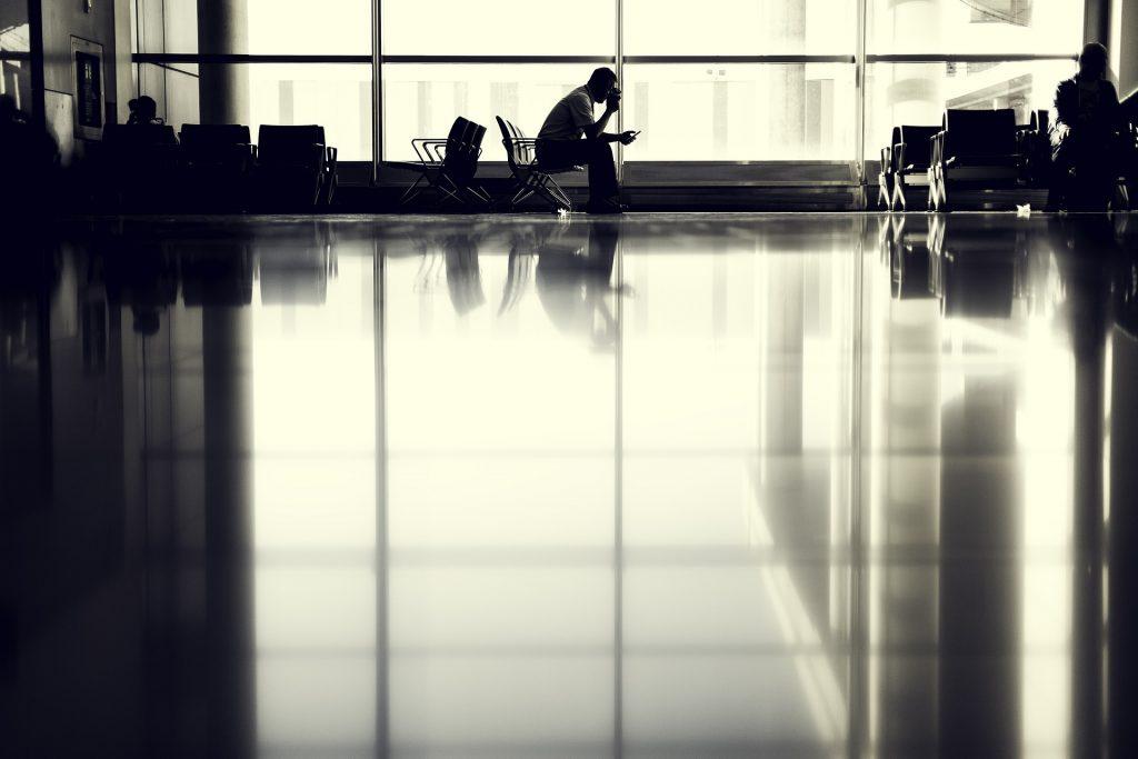 Warten Flughafen